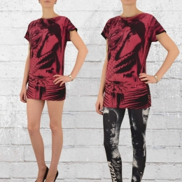 Yakuza Mini Kleid Root Girl schwarz rot