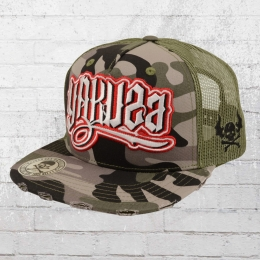 Yakuza Mütze Flag Trucker Snapback Cap camouflage