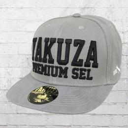 Yakuza Premium Basecap YPS Suede Snapback Kappe grau