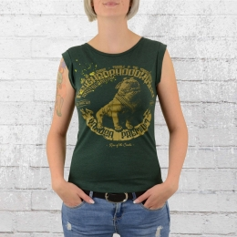Yakuza Premium Female T-Shirt Bulldog green