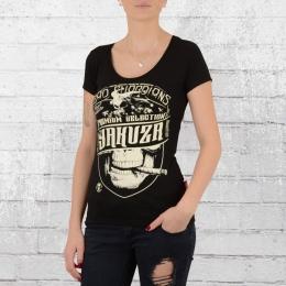 Yakuza Premium Damen T-Shirt Cigar Skull 2231 schwarz
