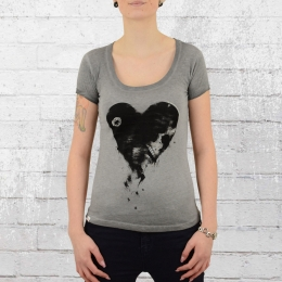 Yakuza Premium Womens T-Shirt Heart vintage grey