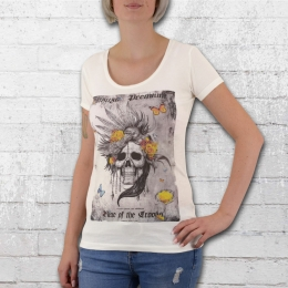Yakuza Premium Ladies T-Shirt Skull Bird white