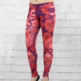Yakuza Premium Frauen Leggings GL 3 Royal Skulls rot