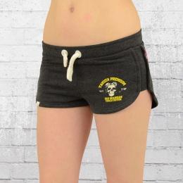 Yakuza Premium Frauen Sweat Shorts 2241 Hot Pants grau
