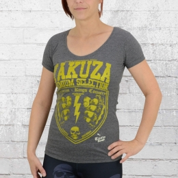 Yakuza Premium Frauen T-Shirt Crooks Gambler GS 2037 grau melange