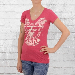 Yakuza Premium Frauen T-Shirt Royal Skulls GS 2138 pink meliert