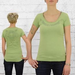 Yakuza Premium Frauen T-Shirt Wolf 2240 lindgrün
