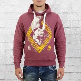 Yakuza Premium Herren Hoody Sweater Eichhörnchen 2121 weinrot