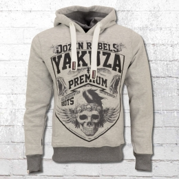 Yakuza Premium Herren Kapuzen Sweater Dozen Rebels grau