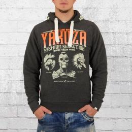 Yakuza Premium Herren Kapuzenpullover Three Logo YPH 2122 grau