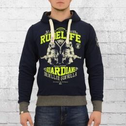 Yakuza Premium Herren Kapuzensweater Rude Life 2223 dunkelblau XXL