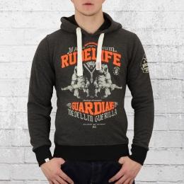 Yakuza Premium Herren Kapuzensweater Rude Life 2223 grau