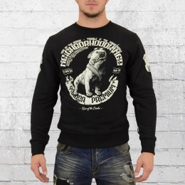 Yakuza Premium Herren Pullover Neighborhood Kingz schwarz