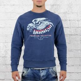 Yakuza Premium Herren Sweater Winged Lion YPP 2127 blau