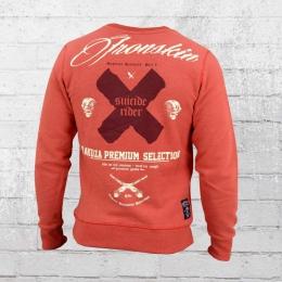 Yakuza Premium Herren Sweatshirt Suizide Rider 2027 rot