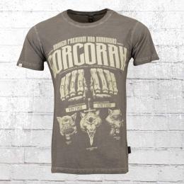 Yakuza Premium Herren T-Shirt Corcoran vintage grau