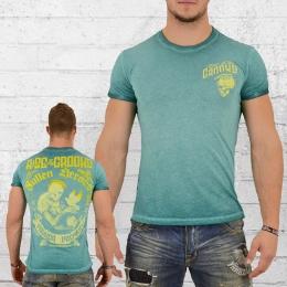 Yakuza Premium Male T-Shirt Dove Skull vintage green