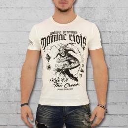 Yakuza Premium Male T-Shirt Maniac Riots white