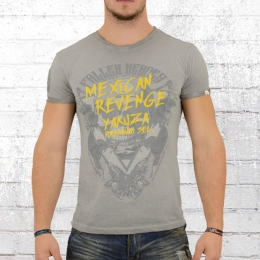 Yakuza Premium Male T-Shirt Mexican Revenge grey