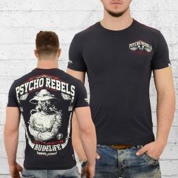 Yakuza Premium Herren T-Shirt Psycho Rebels grau-blau