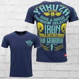 Yakuza Premium Herren T-Shirt Razor Wings YPS 2110 blau