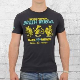 Yakuza Premium Herren T-Shirt Three Rats grau blau