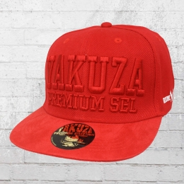 Yakuza Premium Kappe YPS Suede Snapback Cap rot
