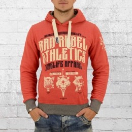 Yakuza Premium Kapuzen Sweater Bad Rebel 2324 rot melange