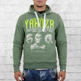 Yakuza Premium Kapuzenpullover Three Logo YPH 2122 grün