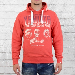 Yakuza Premium Kapuzensweater Three Logo 2122 rot