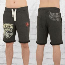 Yakuza Premium Männer Short Wappen kurze Jogginghose anthrazit
