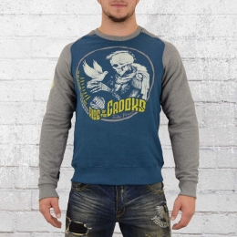 Yakuza Premium Male Sweater Dove Skull blue