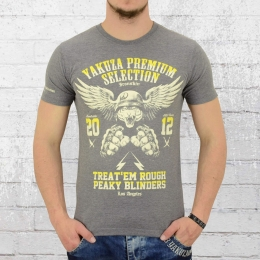 Yakuza Premium Männer T-Shirt Flying Tiger YPS 2000 grau meliert