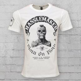 Yakuza Premium Männer T-Shirt Hasslemaker YPS 2112 weiss