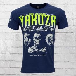 Yakuza Premium M�nner T-Shirt Rough Trade Gear YPS 2114 dunkelblau