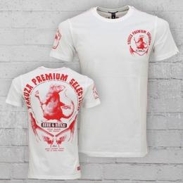 Yakuza Premium M�nner T-Shirt Rat Gangster YPS 2116 weiss