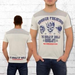 Yakuza Premium Männer T-Shirt Skulls weiss