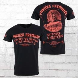Yakuza Premium Männer T-Shirt Stiches For Snitches schwarz