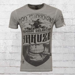 Yakuza Premium Männer Vintage T-Shirt Bad Guardians grau