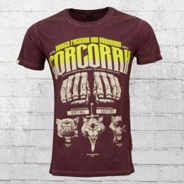 Yakuza Premium Männer Vintage T-Shirt Corcoran weinrot