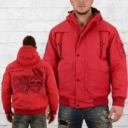 Yakuza Premium Male Winter Jacket Wing Skull red