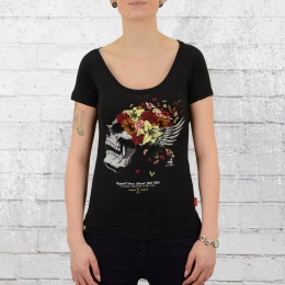 Yakuza Premium Womens Shirt Flower Skull black