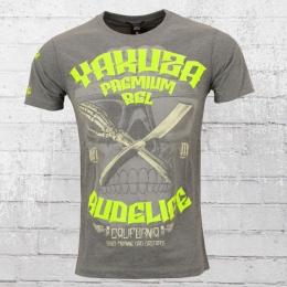 Yakuza Premium Rudelife Herren T-Shirt grau