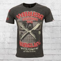 Yakuza Premium Rudelife T-Shirt Männer dunkelgrau