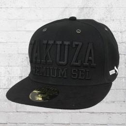 Yakuza Premium Snapback Kappe YPS Suede Cap schwarz