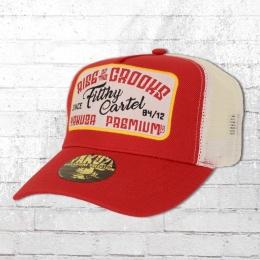 Yakuza Premium Hat Snapback Trucker Cap Fifthy Cartel red white