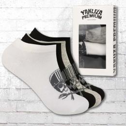 Yakuza Premium Sneaker Socken 4er Pack grau weiss schwarz