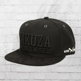 Yakuza Premium Suede Cap 2160 Snapback Kappe schwarz