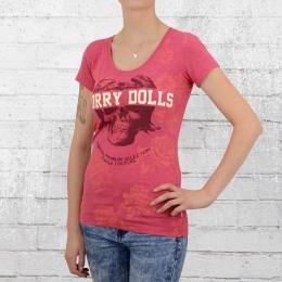 Yakuza Premium T-Shirt Damen Worry Dolls GS 2144 pink meliert